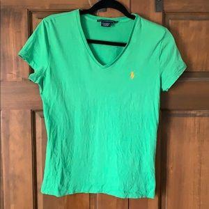Ralph Lauren Sport V-Neck Shirt in Green